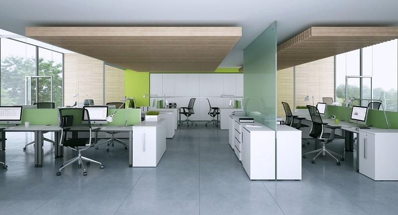 Oka houten kantoormeubelen bowerkt - Moderne kantoorbureaus ...