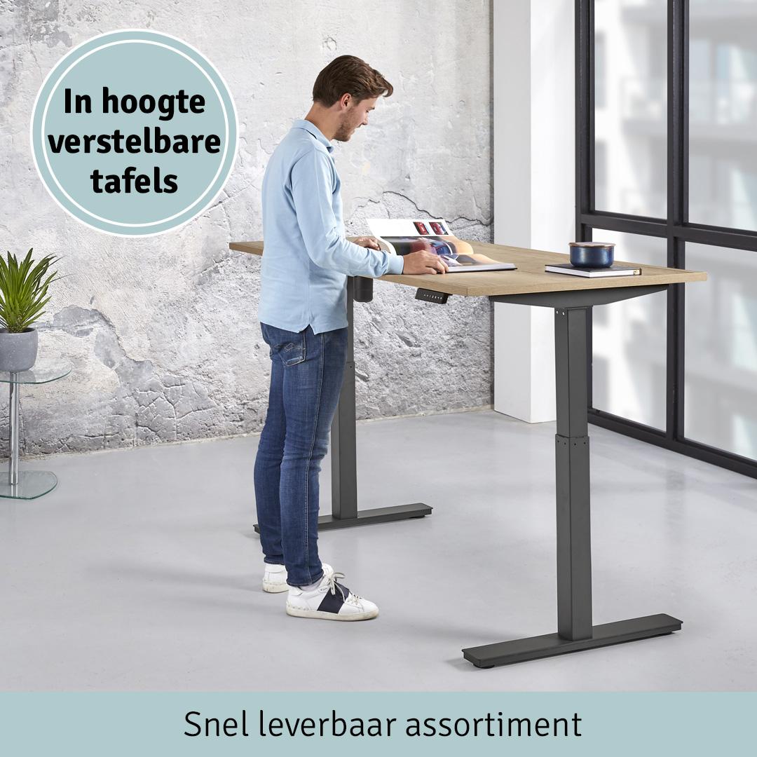 In hoogte verstelbare tafels - Snel leverbaar assortiment
